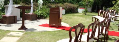 結婚式を挙げる場所。なかったら創ればいいんです☆