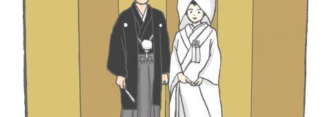 和装衣装選び同行。普段着と間違えてしまう程お似合いな新郎の袴姿。