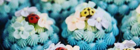 世にも可愛い!世界に一つの紫陽花カップケーキ