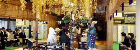 ご先祖に誓う仏前結婚式の実施率は日本では◯%以下の事実